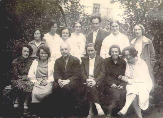 Л.С.Выготский с сотрудниками Экспериментального дефектологического института