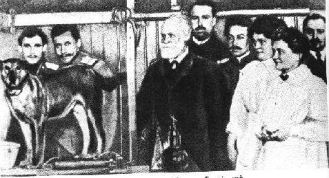 Павлов в своей лаборатории, 1897
